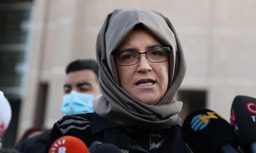 Jamal Khashoggi's fiancee, Hatice Cengiz.