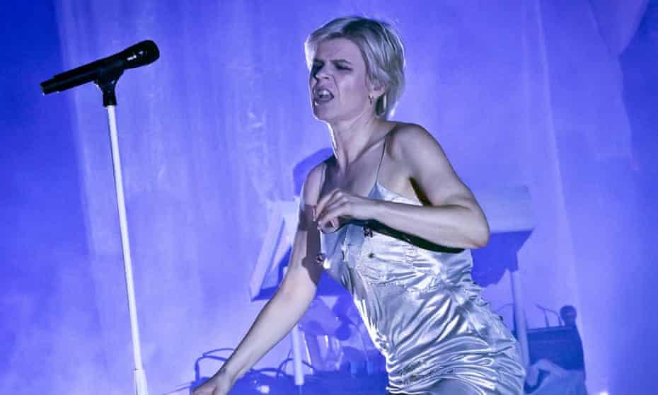 Robyn performing in Berlin.