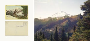 The book includes postcards, such as the ones seen here. Featuring images captured during Funch's trips through the Northern Cascade mountain range in the US, it is an imperfect re-creation of landscapes and wilderness