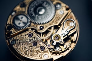 A vintage Omega movement that has been recommissioned at the Struthers' workshop