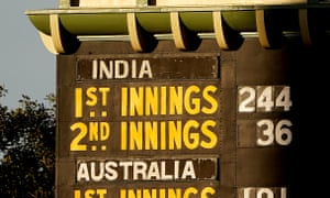 The writing is on the wall - or on the scoreboard - for India after their spectacular second-inning collapse against Australia.
