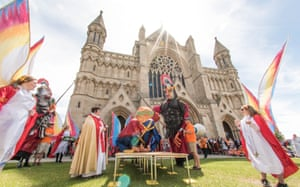 A modern-day pilgrimage to mark the feast day of St Alban and the first Christian martyred in Britain for a piece in the News section