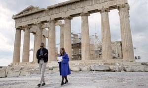 Obama with Eleni Banou