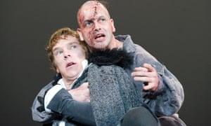 Benedict Cumberbatch and Jonny Lee Miller in Frankenstein.