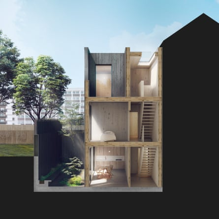 Sinking costs … a design by Adjaye Associates for Cube Haus.