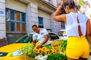 Sunflowers, Havana, 2016. by Michael Goldrei