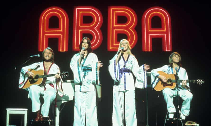 (Left to right) Benny, Frida, Agnetha and Bjorn live in 1979