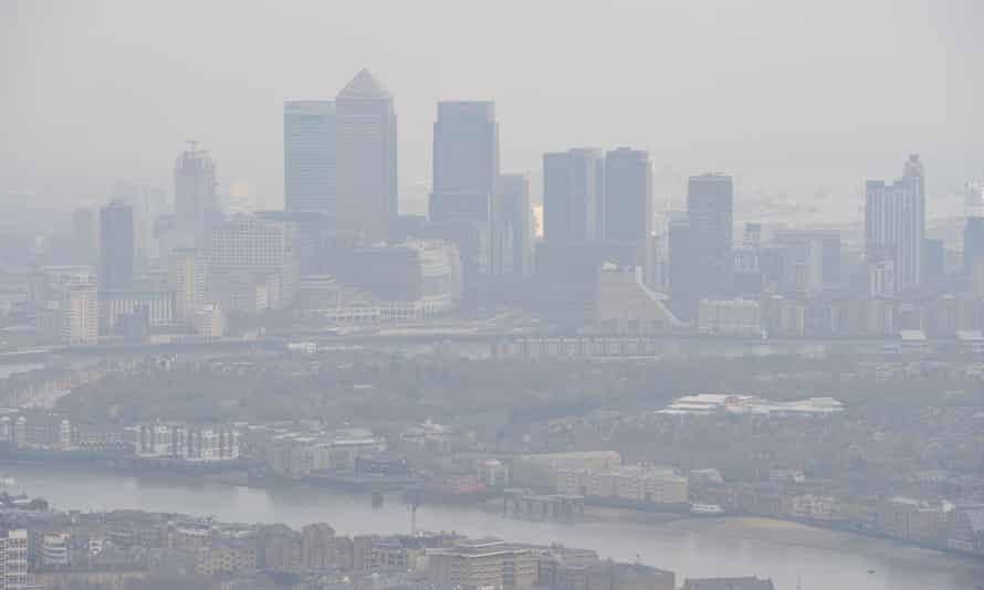 Pollution over London skyline