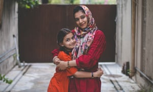 Khadija Siddiqi with her younger sister, who was also wounded during the attack.