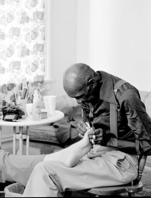 Mr. Yerby and Mom's Foot, 2005 From LaToya Ruby Frazier (Mousse Publishing Mudam Luxembourg)The almost magazine-like production values add to this sense of historical 'first draft'