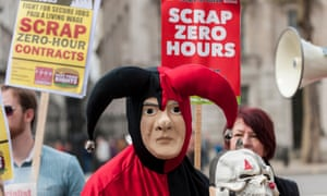 A 2016 demonstration against zero-hours contracts at No 10