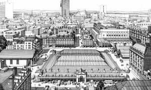 Drawing of Covent Garden from Vol 36 of the Survey of London, 1970, by FA Evans and TP O'Connor.