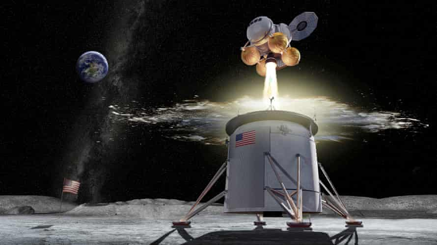 An artist's image of the Artemis lunar mission.