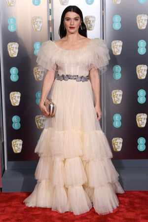 The Favourite's Rachel Weisz in a mille-feuille of Gucci tulle