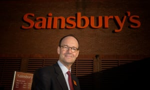 Mike Coupe outside a Sainsbury's branch