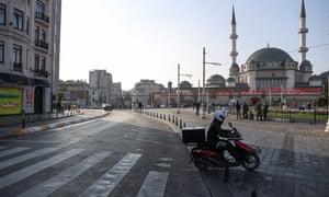 Empty Taksim Square and surroundings