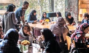 Coffee bar in Tehran.