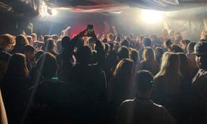 Ic3peak performs at the club Su-27 in Krasnodar.