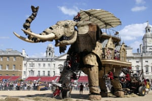 Alan Jacobi masterminded the Sultan's Elephant by Royal de Luxe, seen here walking through Horse Guards Parade, central London, in 2006.