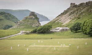 Two amateur sides meet at the Valley of Rocks in Devon.