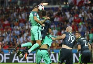 Cristiano Ronaldo scores