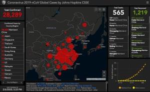 Johns Hopkins University CSSE coronavirus tracker at 0635GMT on 6 February.