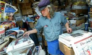 newspaper vendor