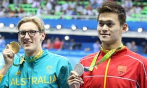 Gold medalist Mack Horton sparked a war of words with silver medalist Sun Yang after the men's 400m freestyle.