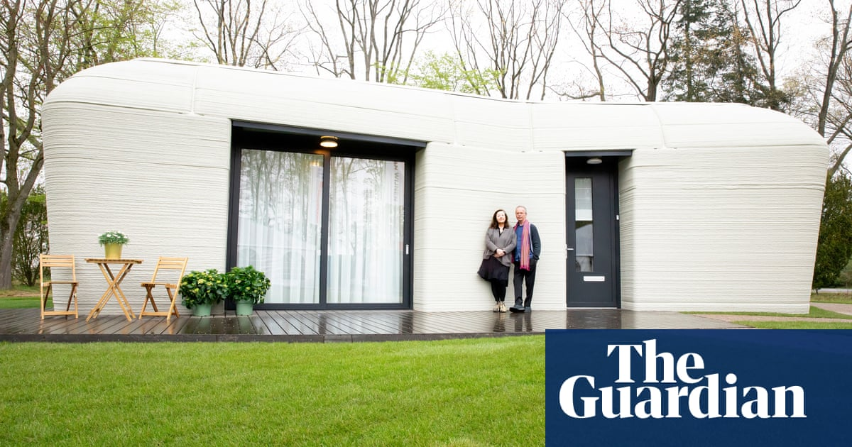 Dutch couple move into Europe's first fully 3D-printed house