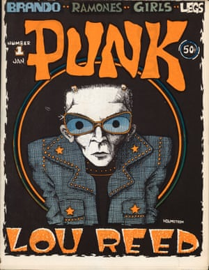 Lou Reed, Vol 1, issue no 1, January 1976. Illustration and design by John Holmstrom.