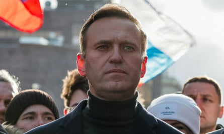 Alexei Navalny pictured in February this year.