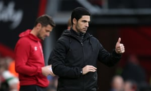 Mikel Arteta said the attitude of his players was 'spot on' in the draw at Bournemouth.