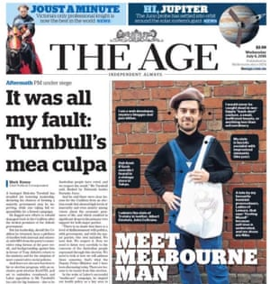 The Age's Melbourne man front-page story
