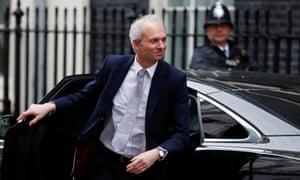 David Lidington outside 10 Downing Street