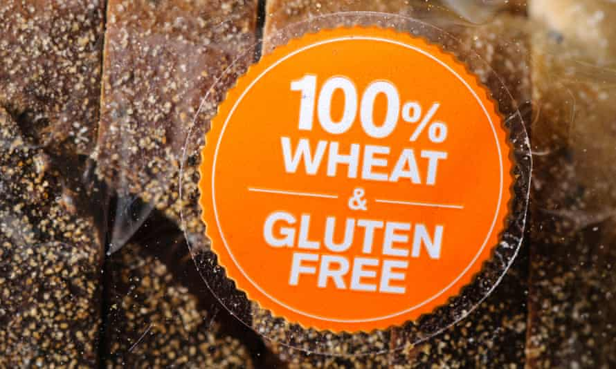 Label on a wheat and gluten free loaf of bread