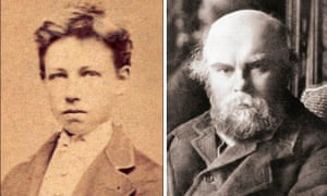 Arthur Rimbaud (left) and Paul Verlaine