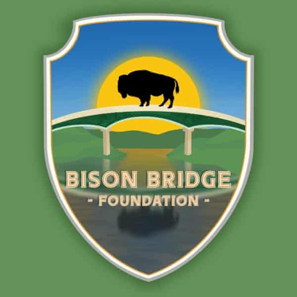 Bison Bridge foundation logo shows bison silhouette on bridge