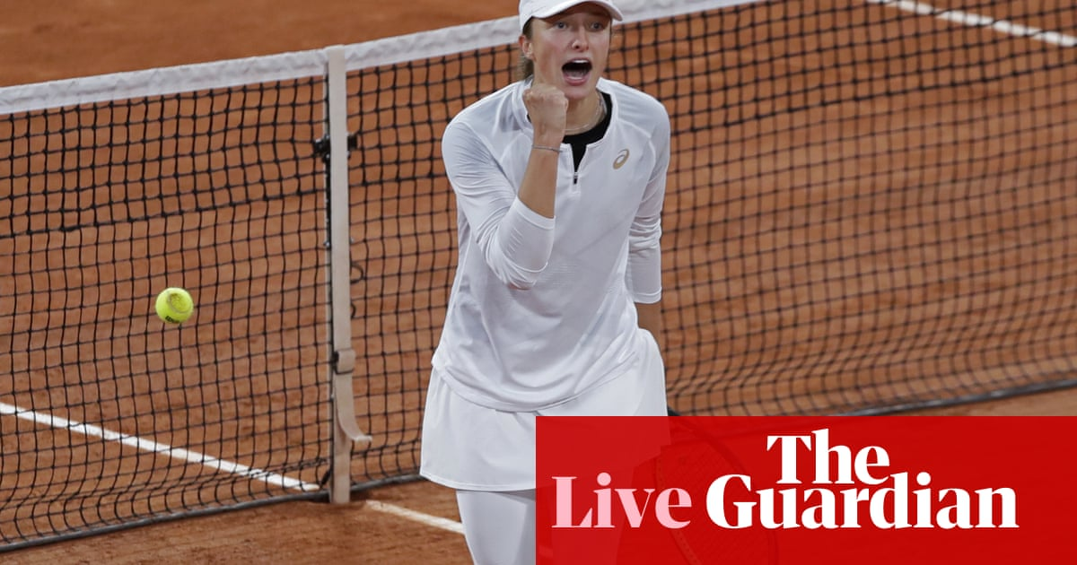 French Open semi-finals: Swiatek v Podoroska and Kenin v Kvitova – live!