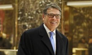 Rick Perry, Donald Trump's pick as energy secretary