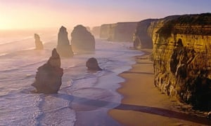 One of the most popular attractions along the Great Ocean Road, Victoria, the Twelve Apostles.