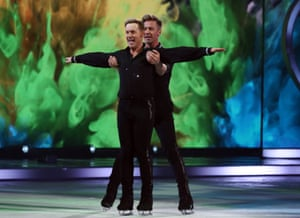 Ian 'H' Watkins and Matt Evers perform on Dancing on Ice.