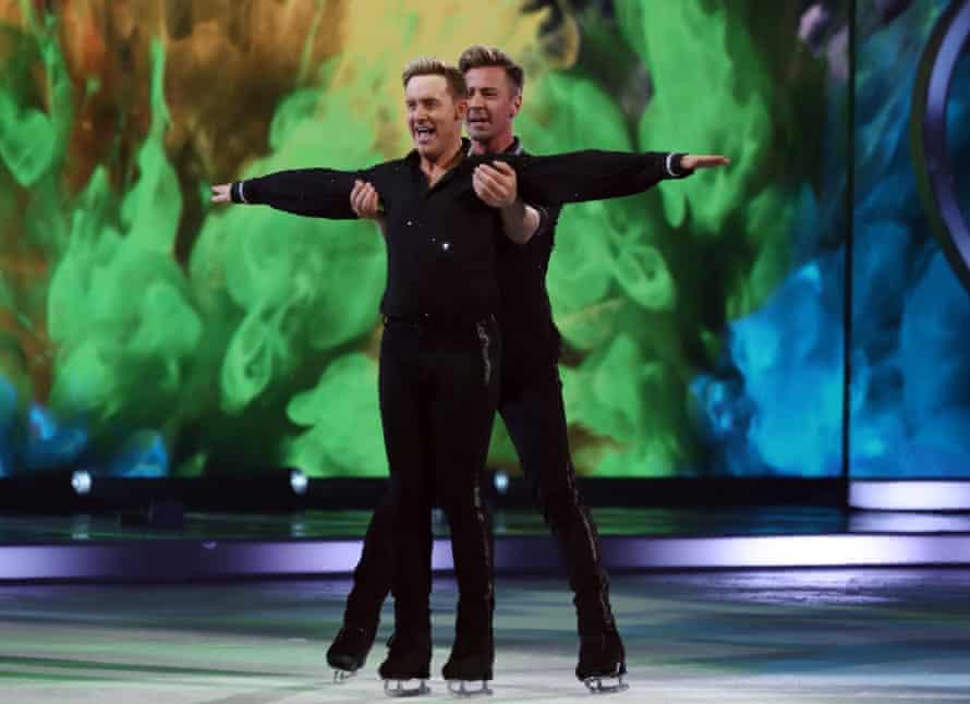 Ian 'H' Watkins and Matt Evers perform on Dancing on Ice.