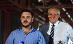 Liberal candidate for Herbert Phillip Thompson takes questions about Clive Palmer preference deals while the prime minister finds a happy place.