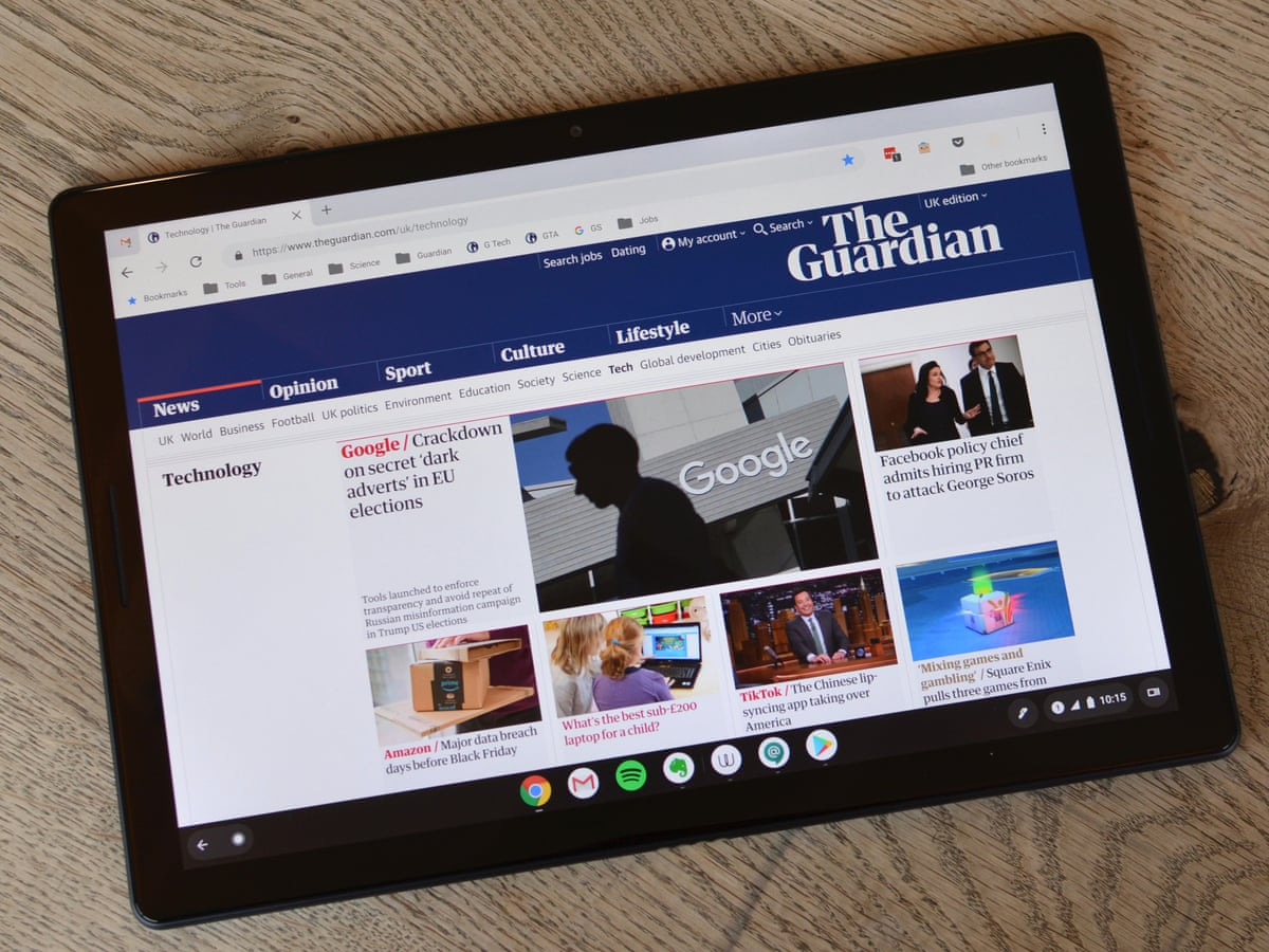 Google Pixel Slate Review A Strong Case For Death Of Android Tablets Google The Guardian