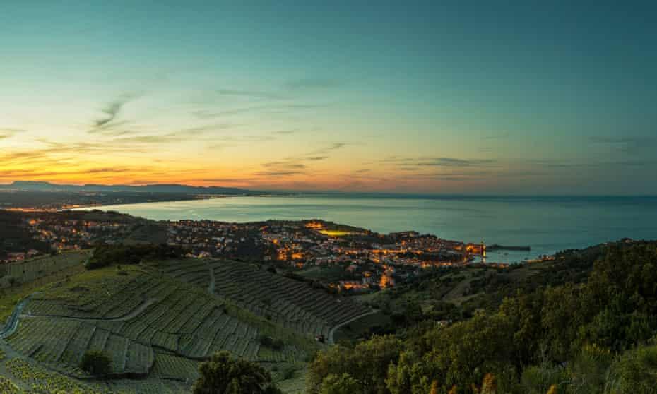Vineyards by the Mediterranean in Languedoc