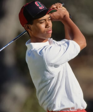 Tiger Woods during his freshman year at Stanford University in October 1994.