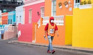 A health worker conducts door-to-door community screening in Cape Town, South Africa.