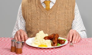 Man at dinner table