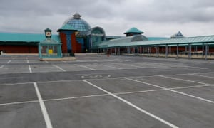 British Land's Meadowhall shopping centre in Sheffield stands empty