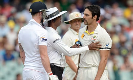 England's Ben Stokes, left, and Australia's Mitchell Johnson, right, have previous in Ashes Tests.
